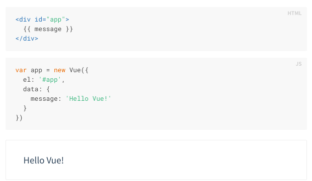 Basic Vue example
